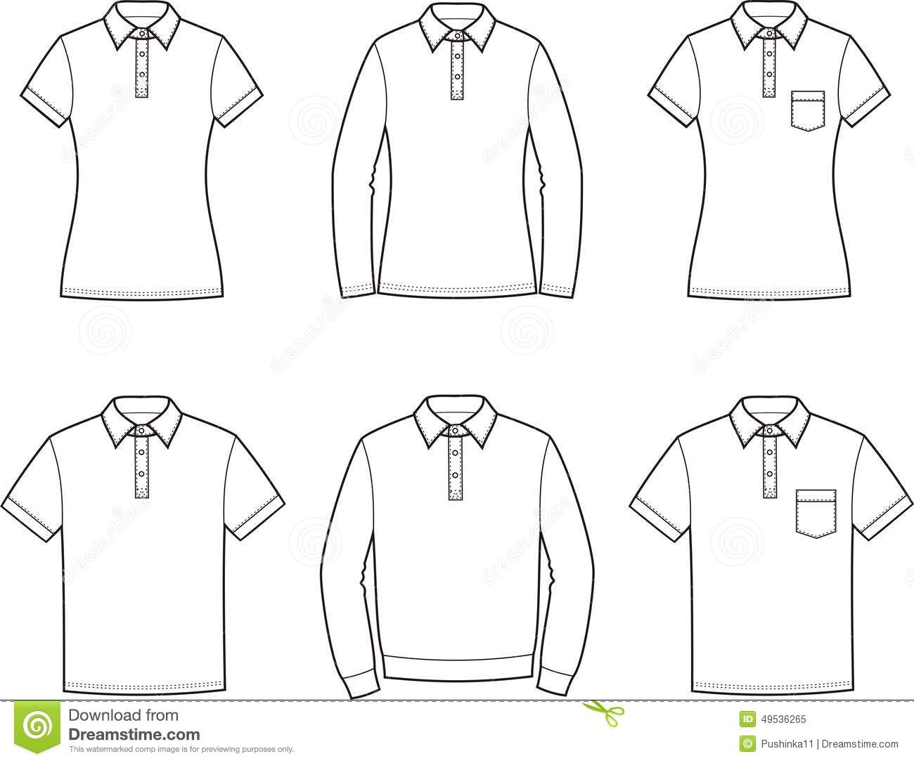 Polo T Shirt Stock Vector Illustration Of Jumper Drawing