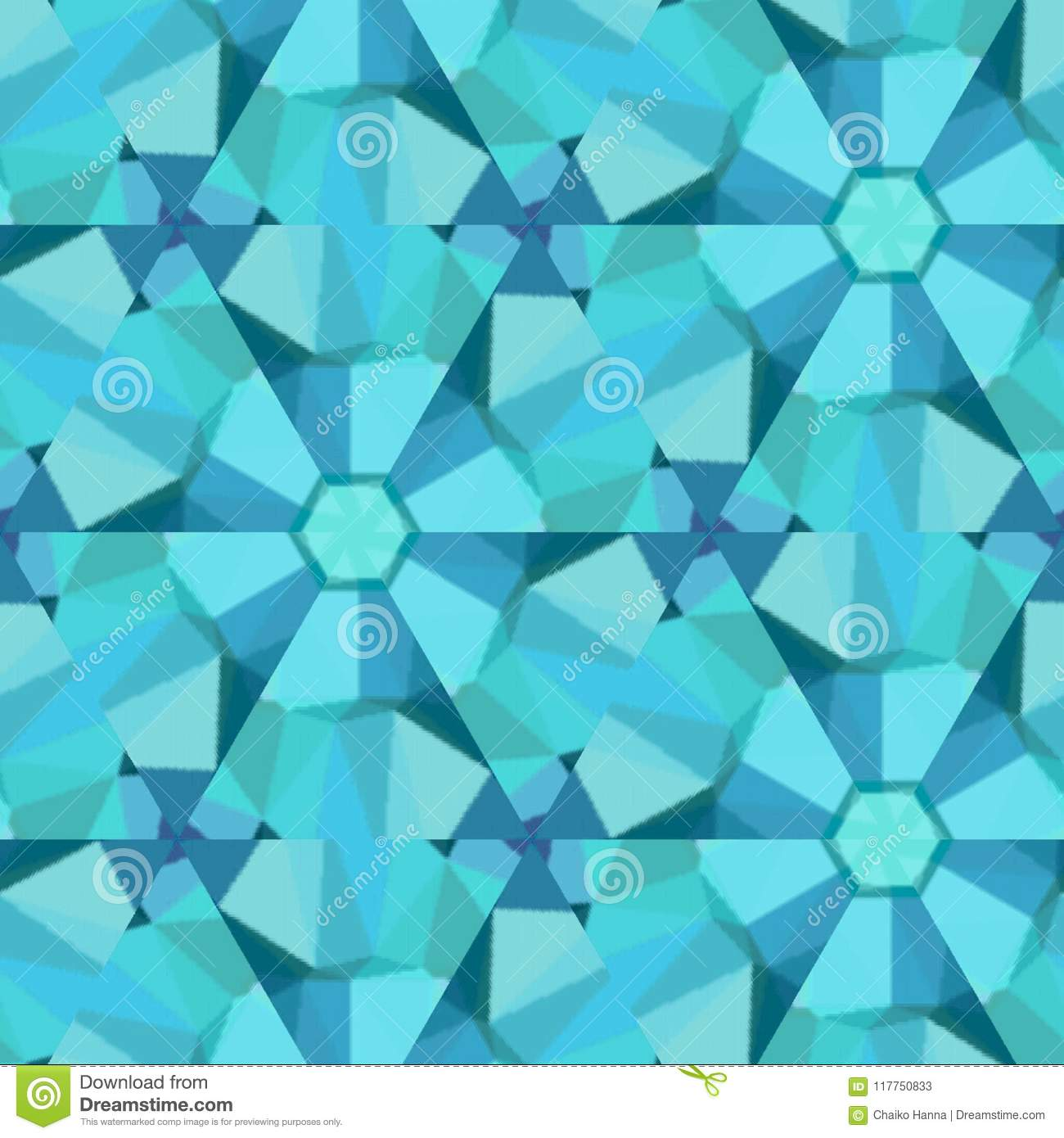 Polygon Background With Irregular Tessellations Pattern