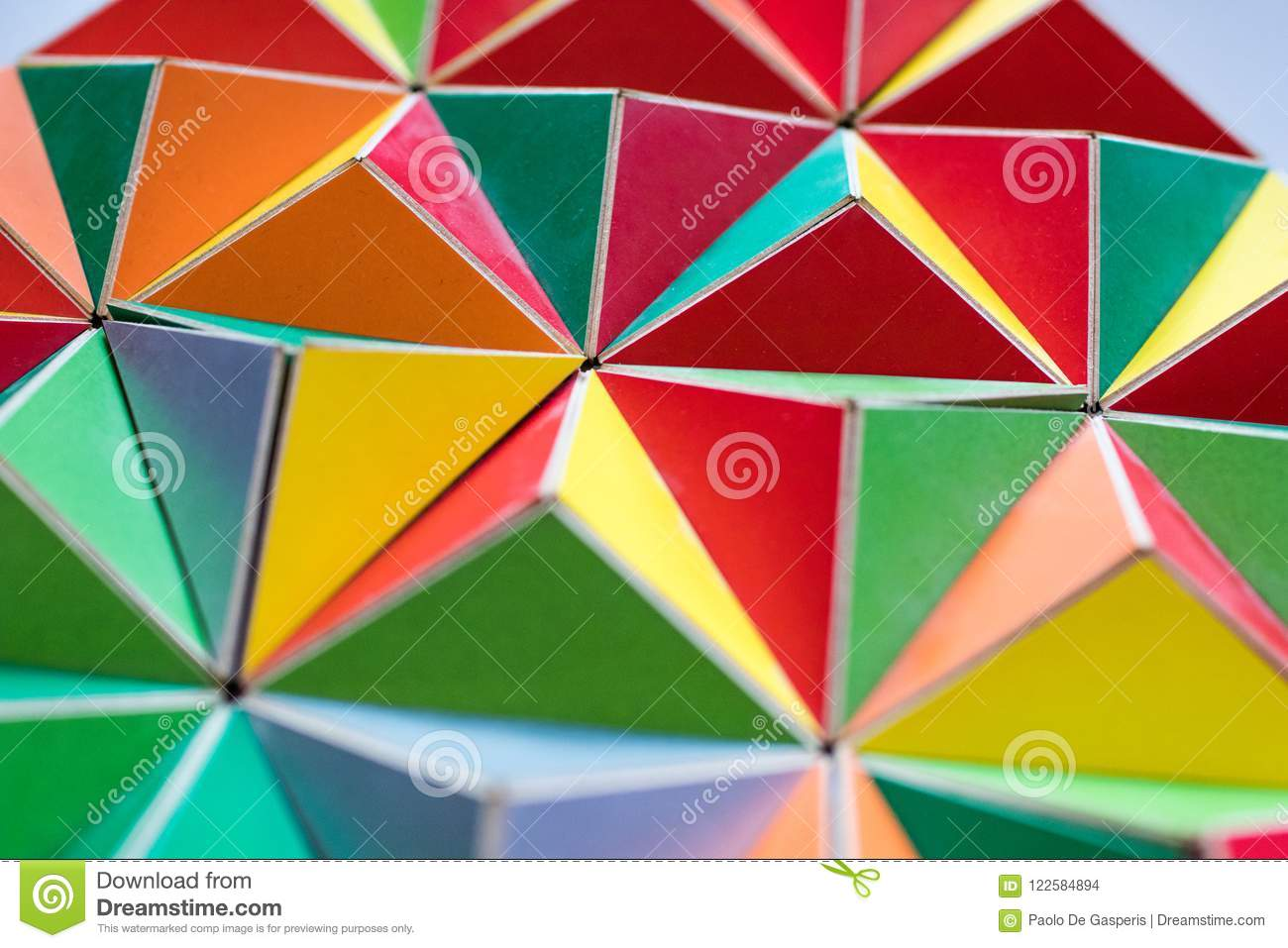 Polygonal Surface With Colored Triangles Tessellation Of