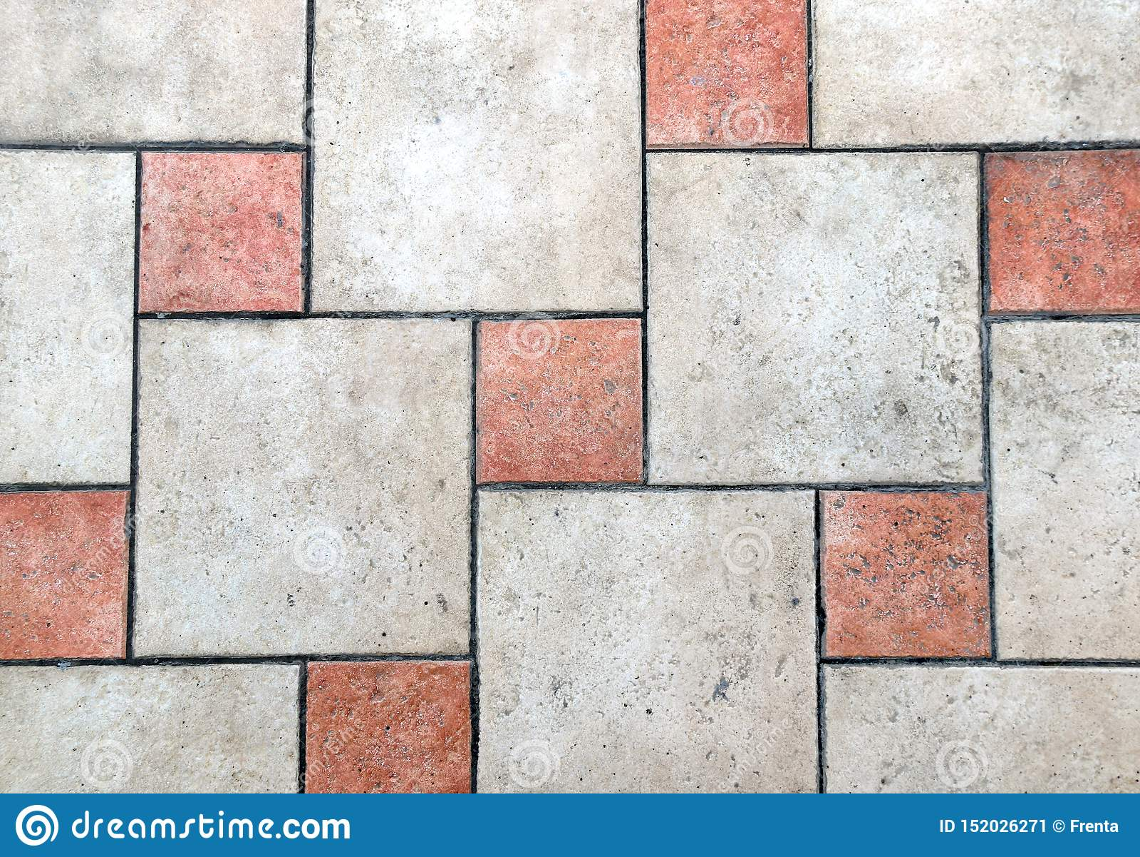 https www dreamstime com porcelain tiles floor texture old red beige colors image152026271