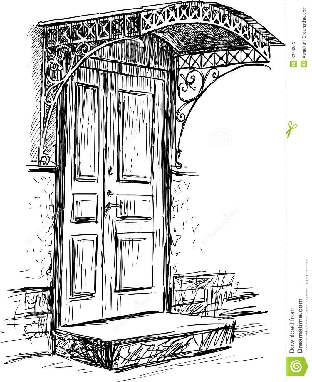 Porte Illustration De Vecteur Illustration Du Trappe