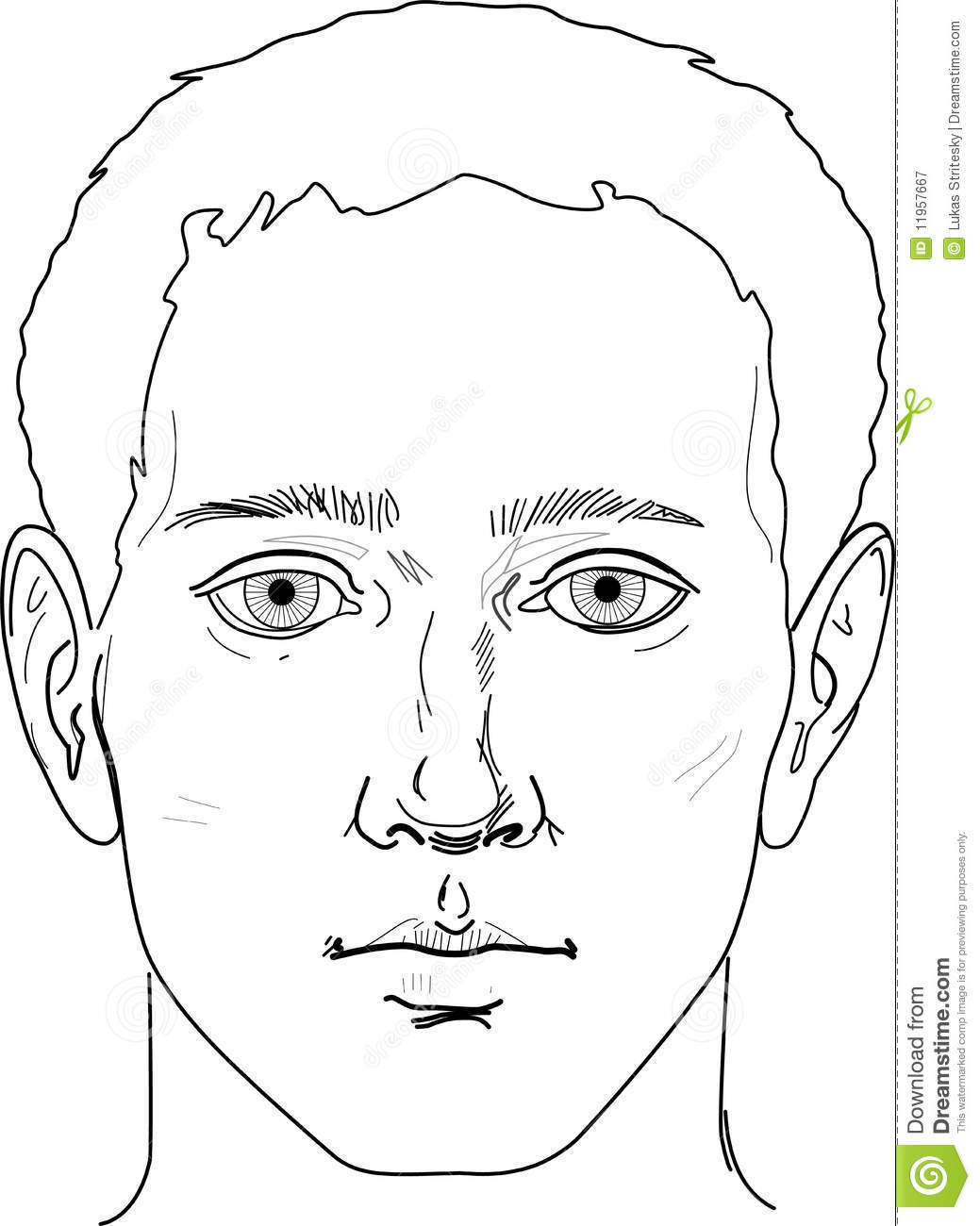 Portrait Of Man Face Stock Vector Illustration Of