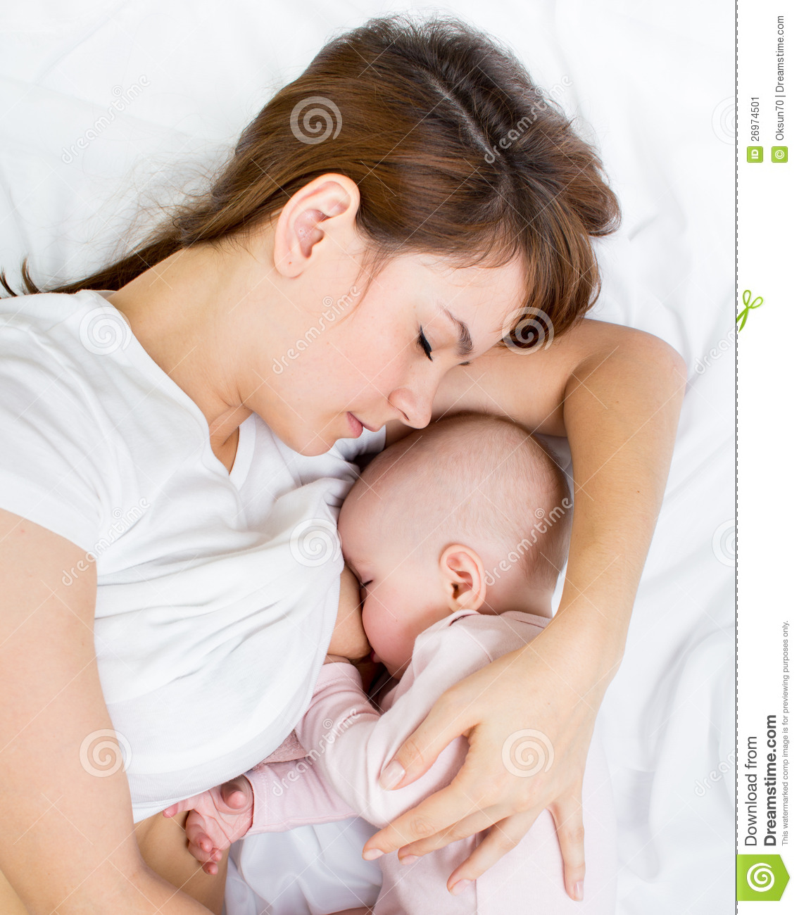 Portrait Of Mother Breastfeeding Her Baby Stock Image