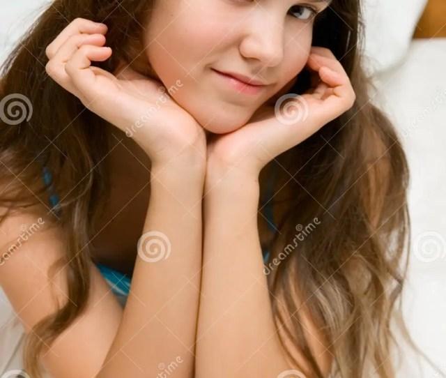 Portrait Of Cute Smile Teen Girl