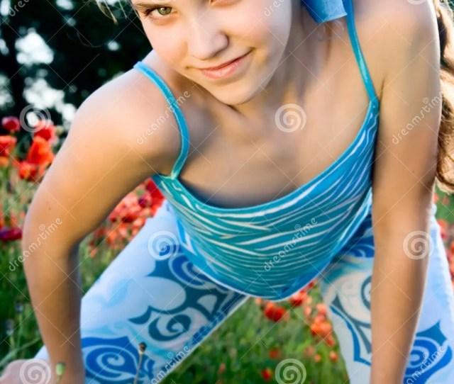 Portrait Teen Girl With Poppy