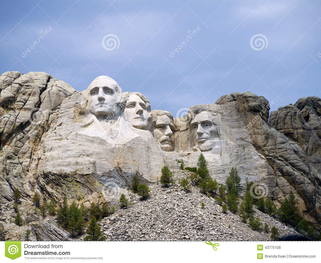 Portraits Of Presidents In The Rock Editorial Stock Image
