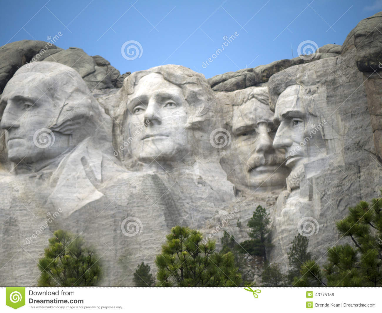 Portraits Of Presidents In The Rock Editorial Photo