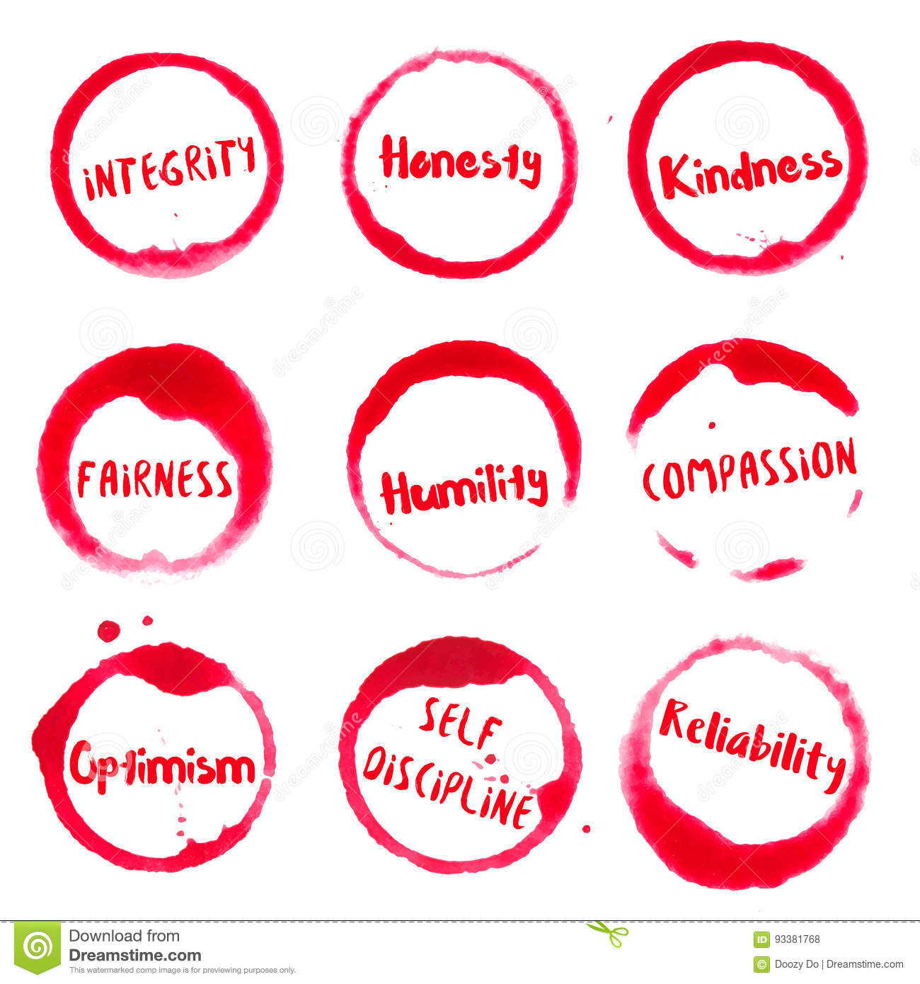 Positive Character Traits Collection Of Round Stock