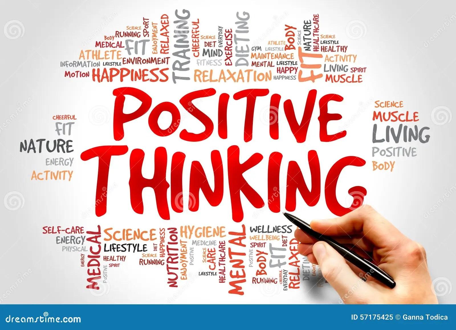 Positive Thinking Stock Image Image Of Hand Activity