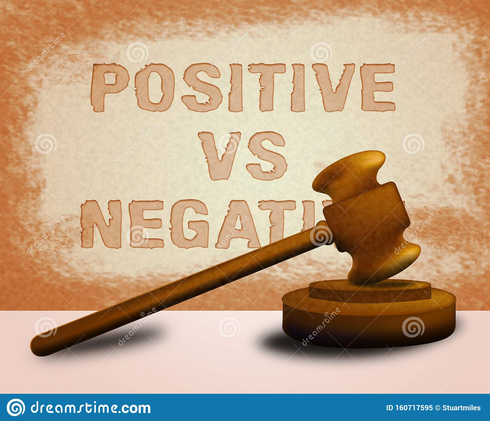 Positive Vs Negative Icon Depicting Reflective State Of