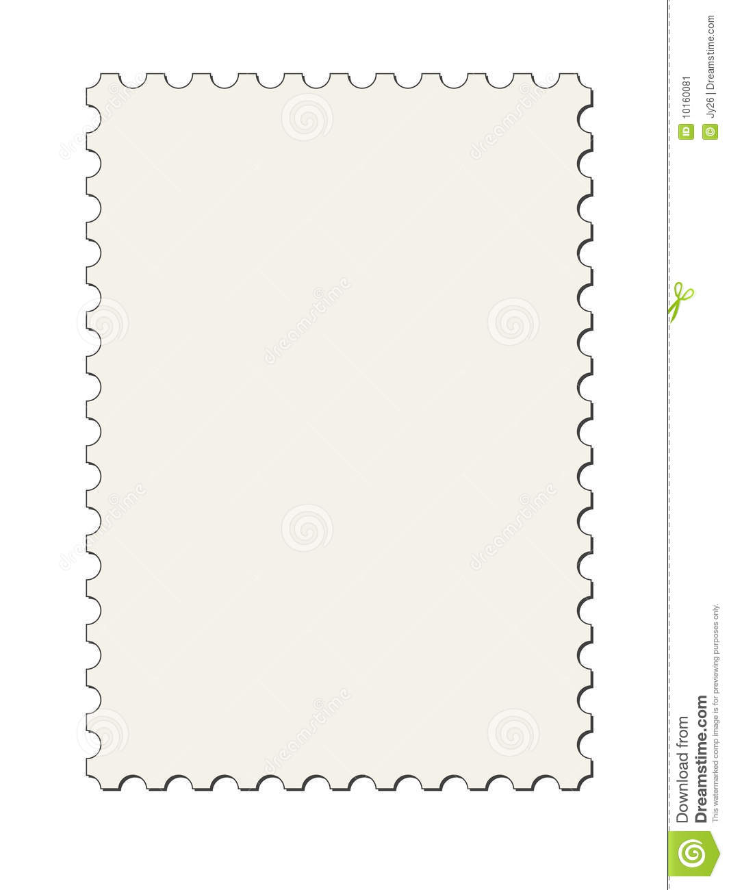 Postage Stamp Border Vector Stock Image