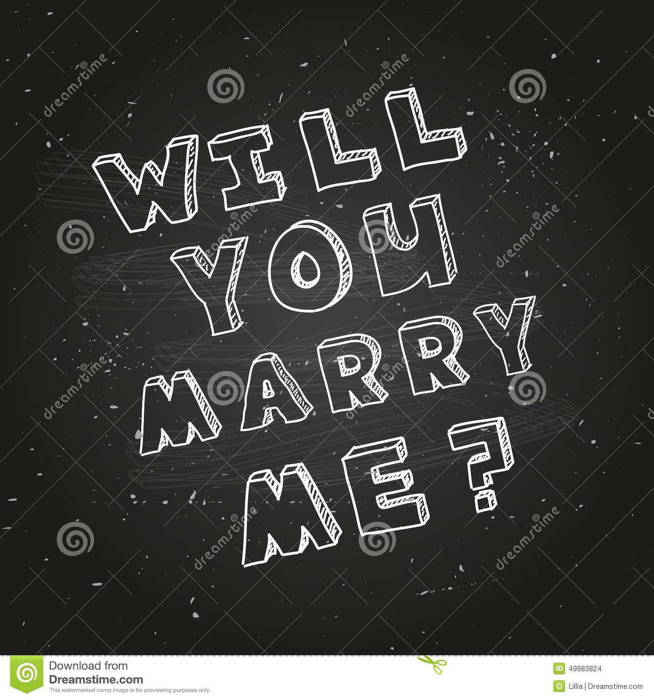 Poster Template For Marriage Proposal Design Stock Vector