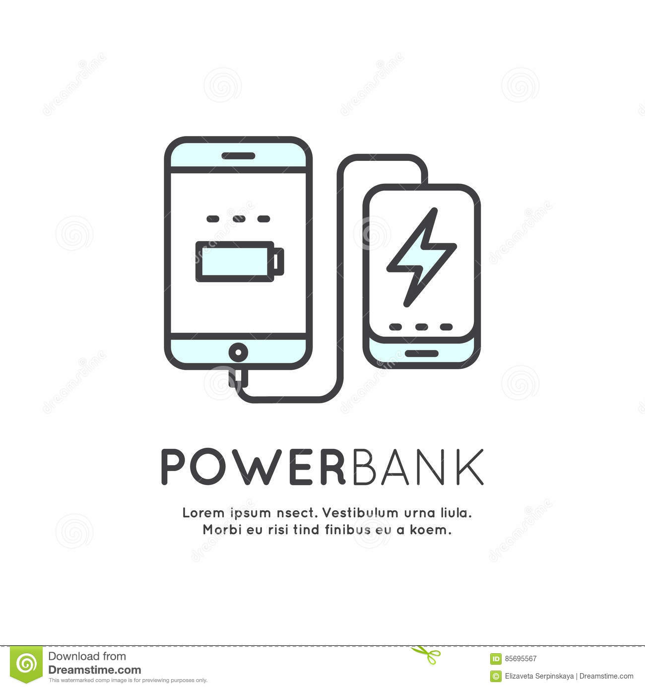 Power Bank Battery Phone Charger Stock Illustration