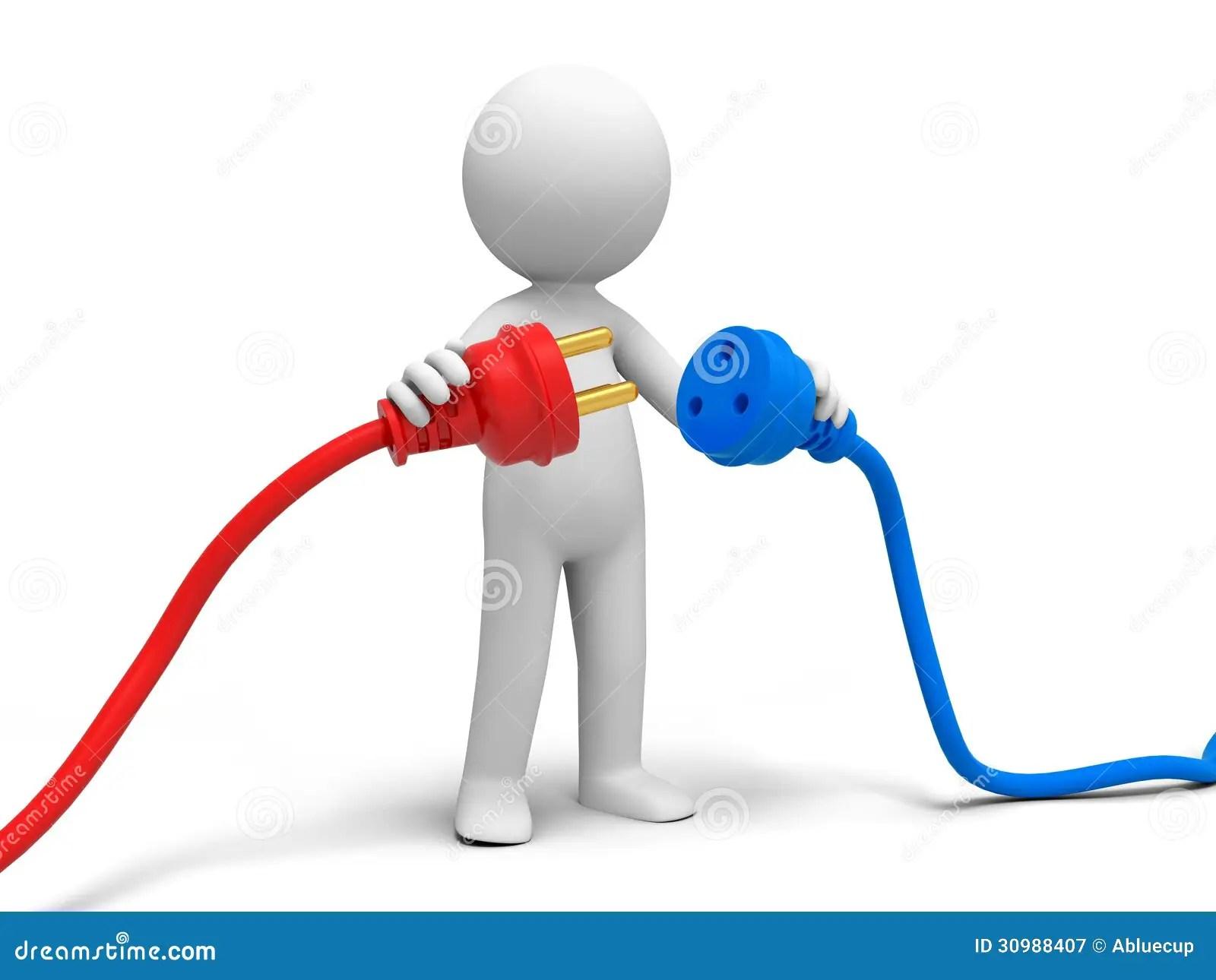 Power Plug Stock Illustration Illustration Of