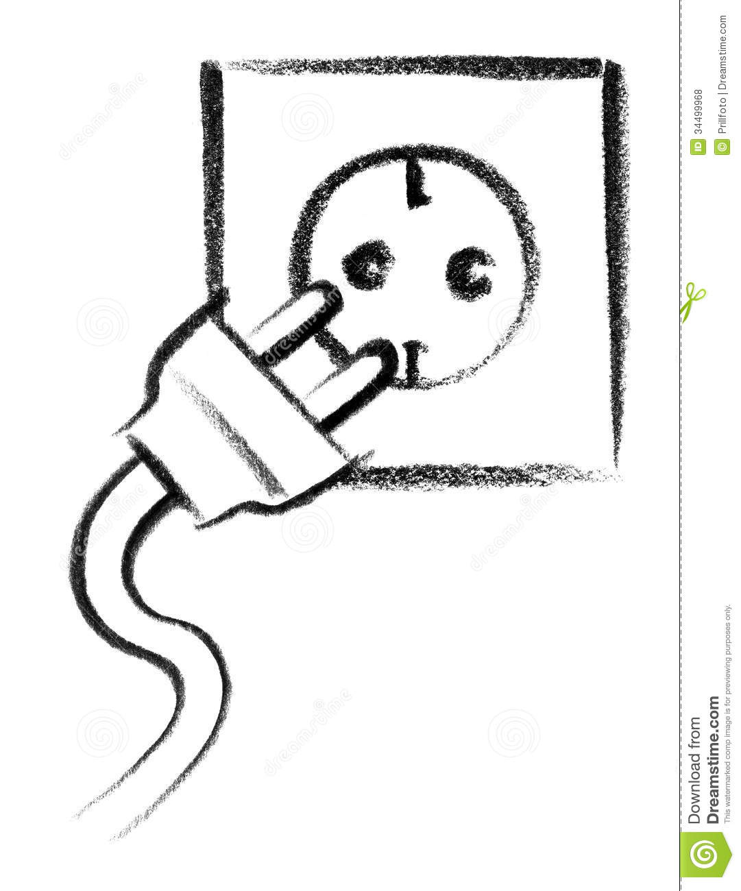 Power Point Icon Stock Illustration Illustration Of Clip