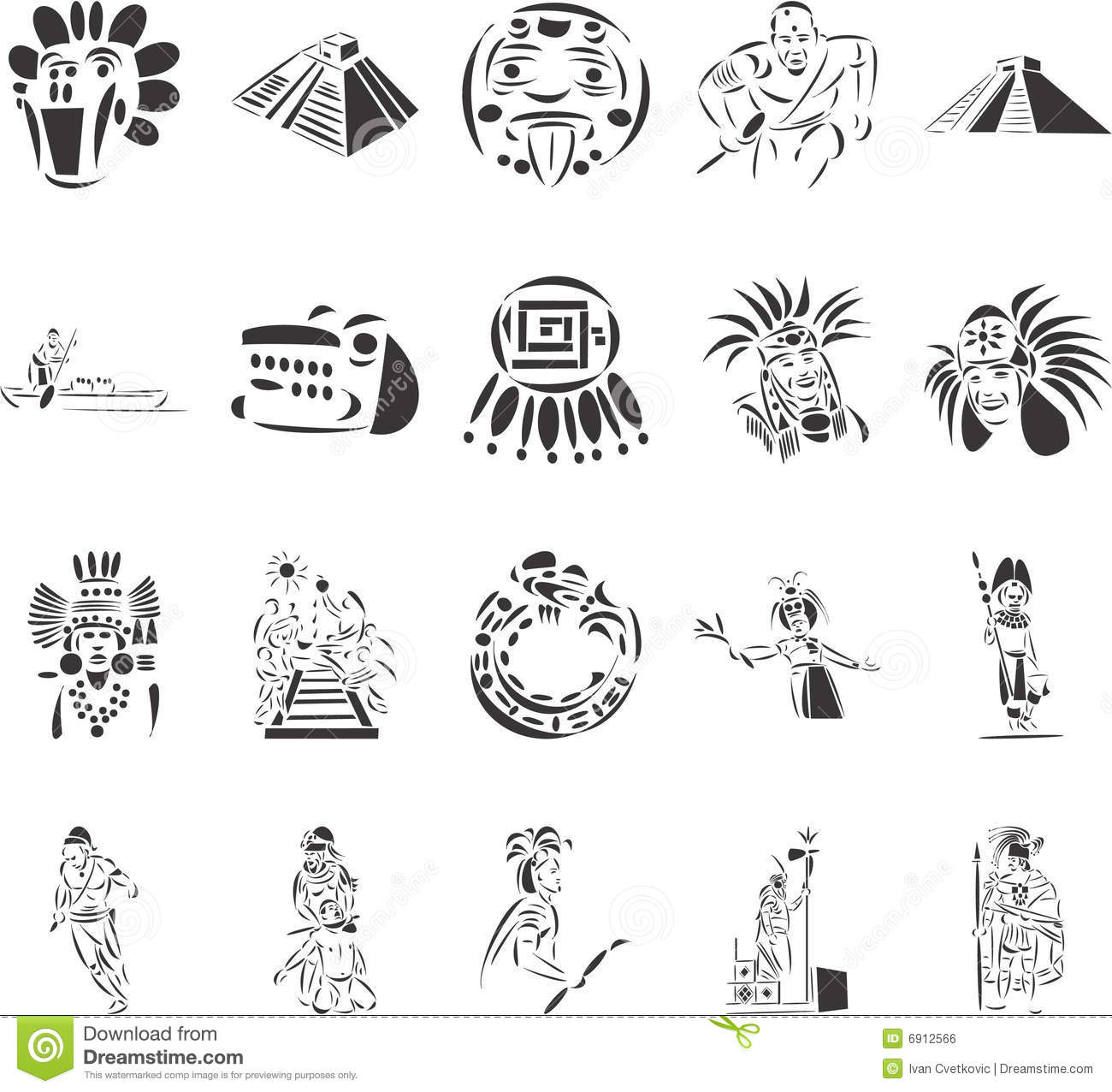 Pre Columbian Civilizations Royalty Free Stock Image