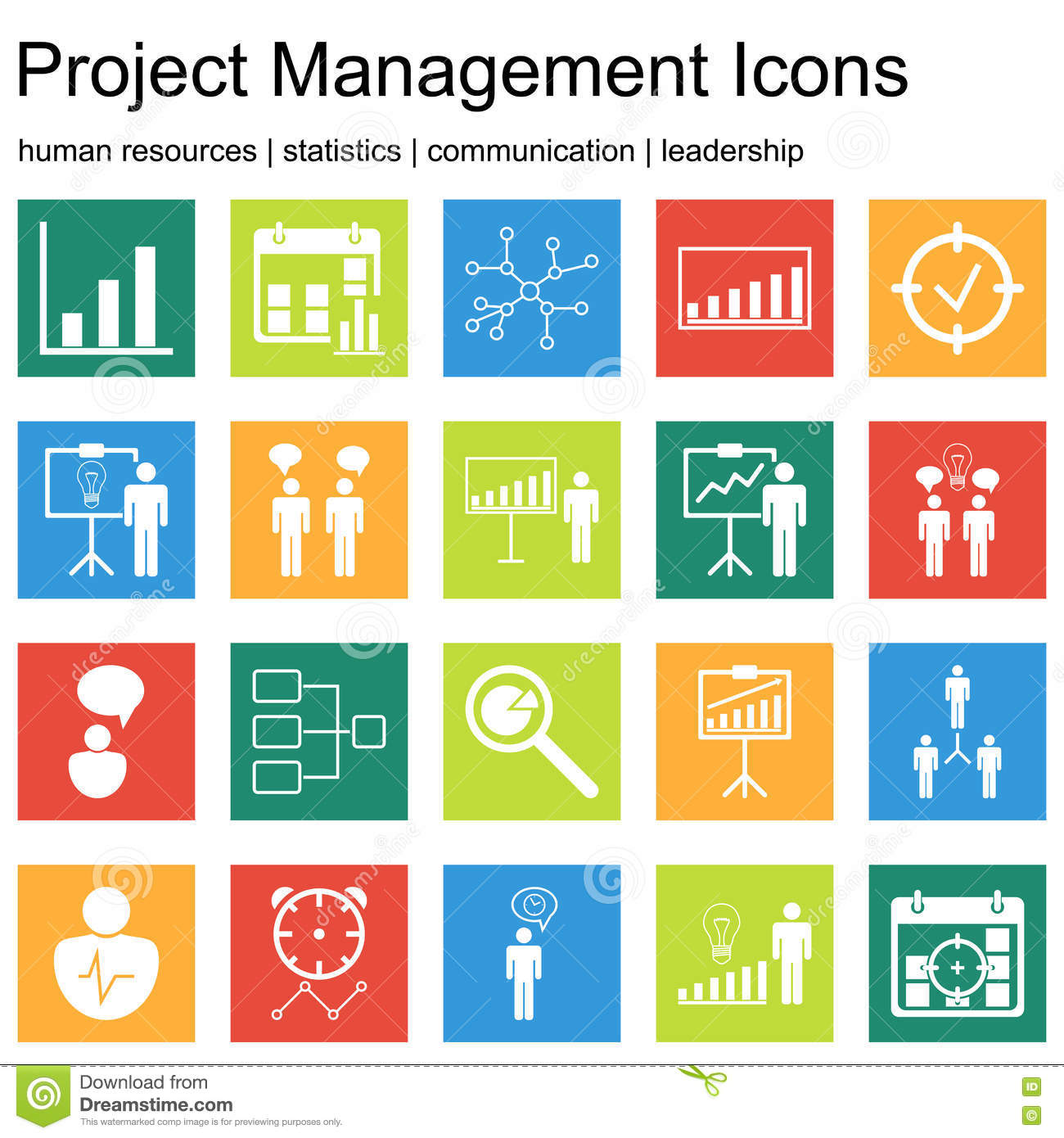 Premium Quality Icon Sets Of Project Management Human