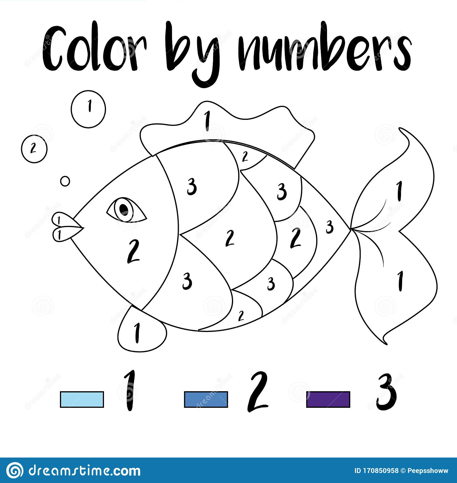 Coloring Page Color By Numbers Educational Children Game