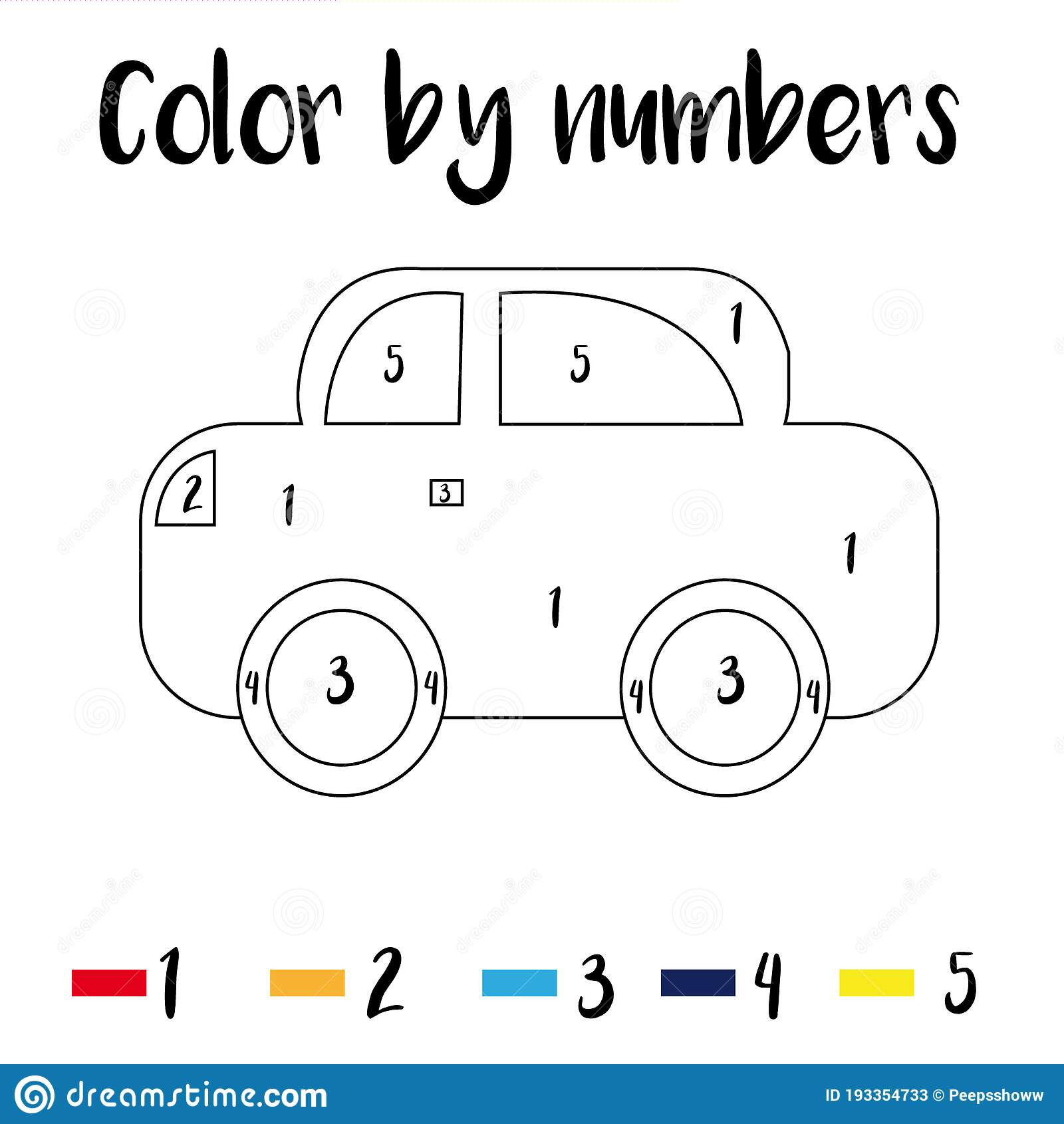 Preschool Counting Activities Coloring Page With Colorful