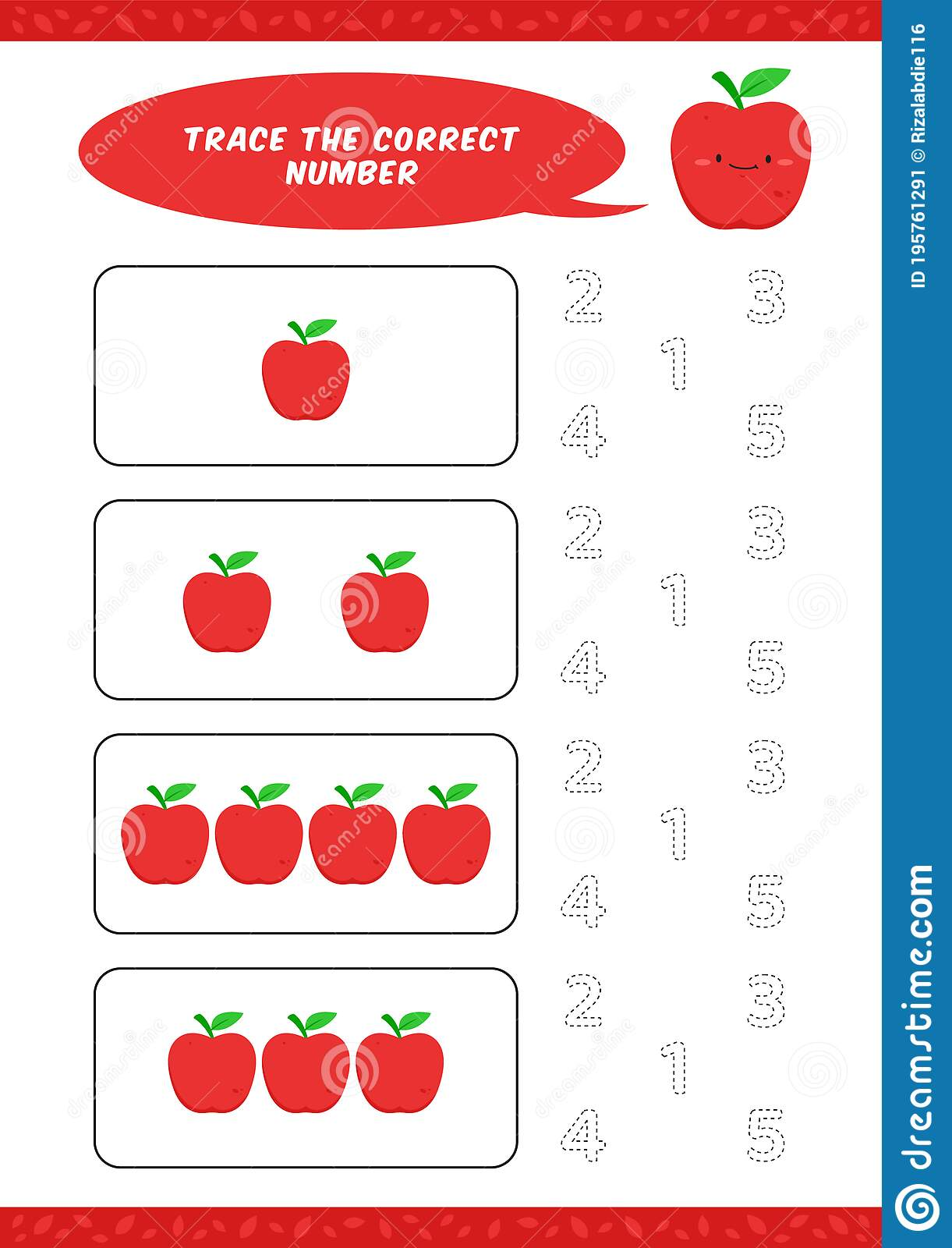 Preschool Counting Learn Worksheet Tracing Writing Number