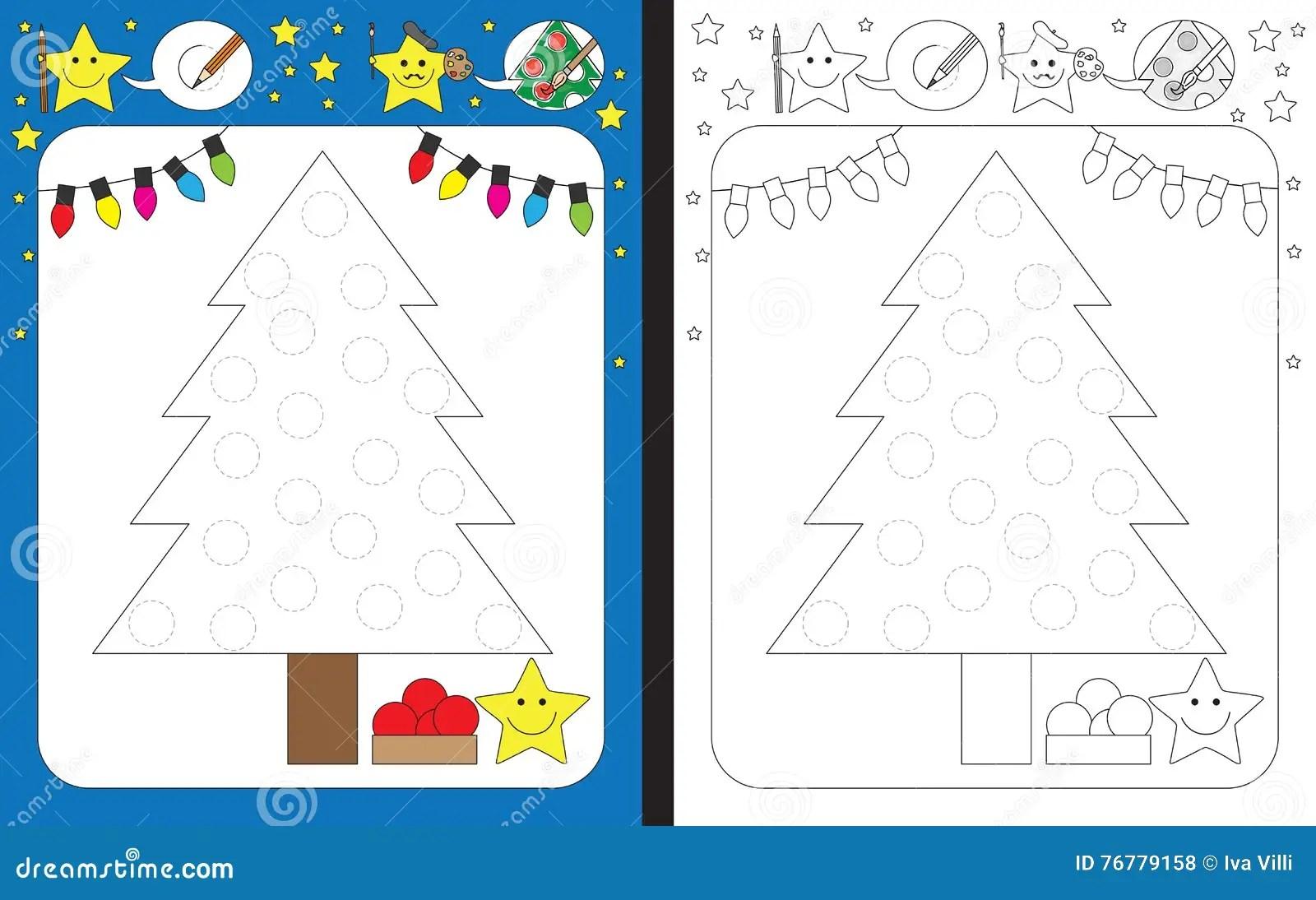 Preschool Worksheet Stock Vector Illustration Of Star