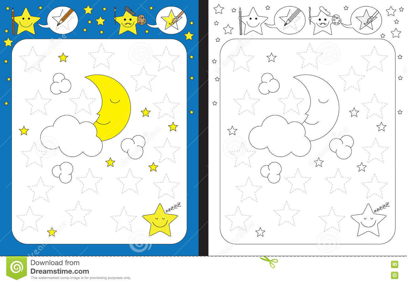Preschool Worksheet Stock Vector Illustration Of School