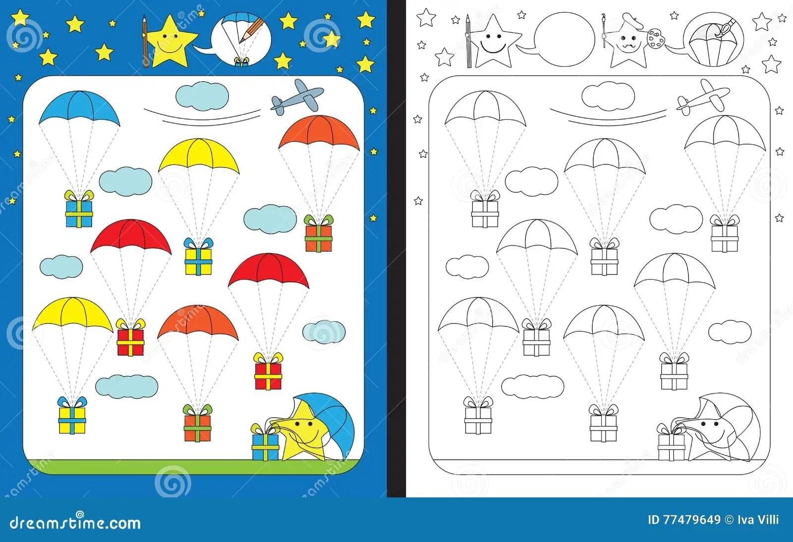 Preschool Worksheet Stock Vector Illustration Of Task