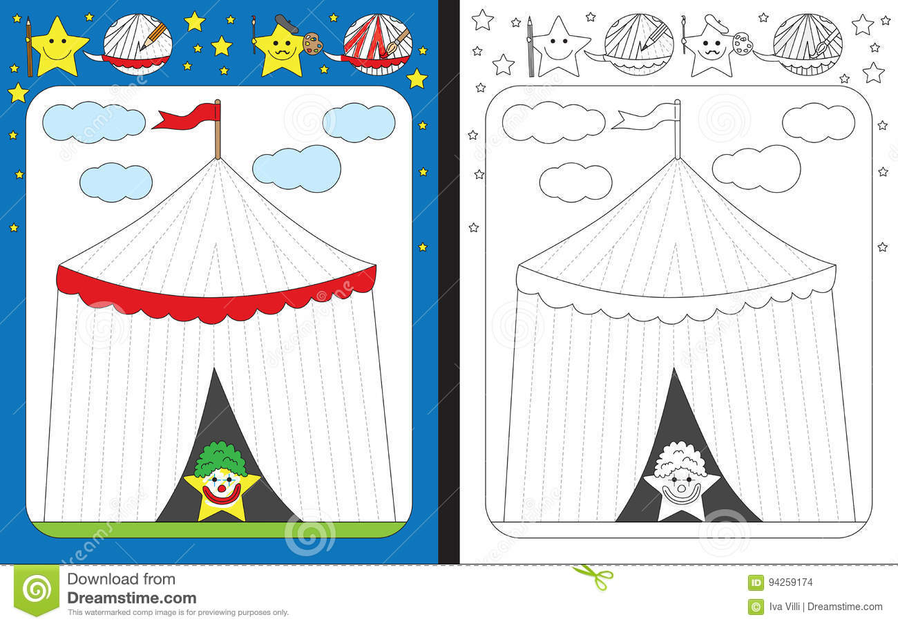 Preschool Worksheet Stock Vector Illustration Of Stripes