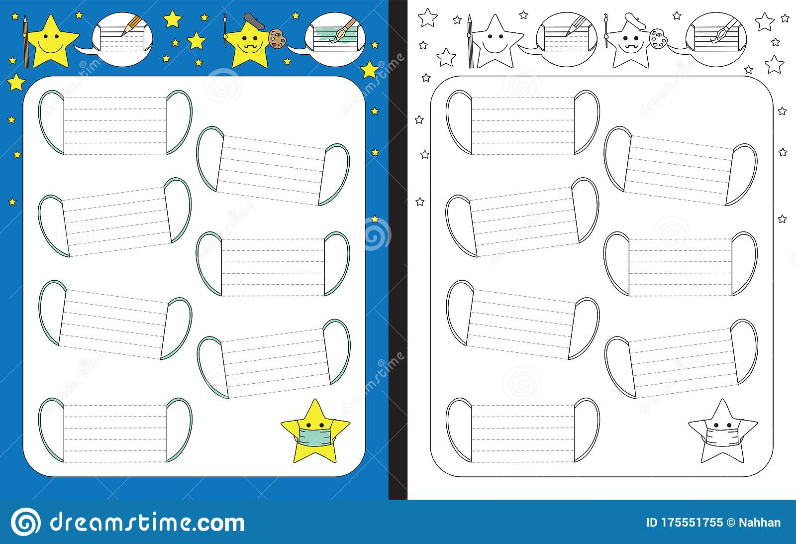 Preschool Worksheet Stock Vector Illustration Of Practice
