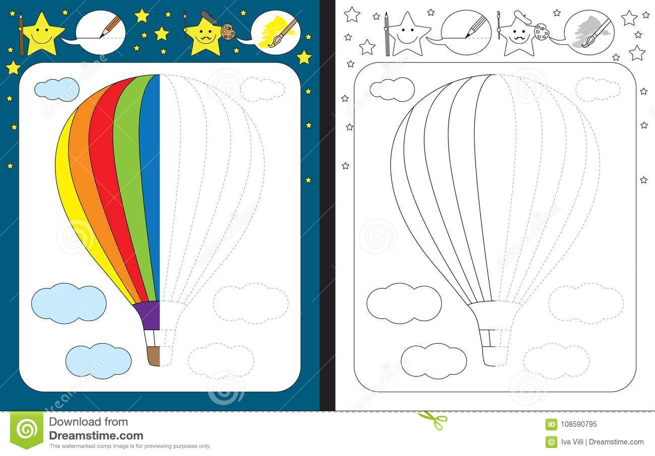Original Hot Air Balloon Worksheets