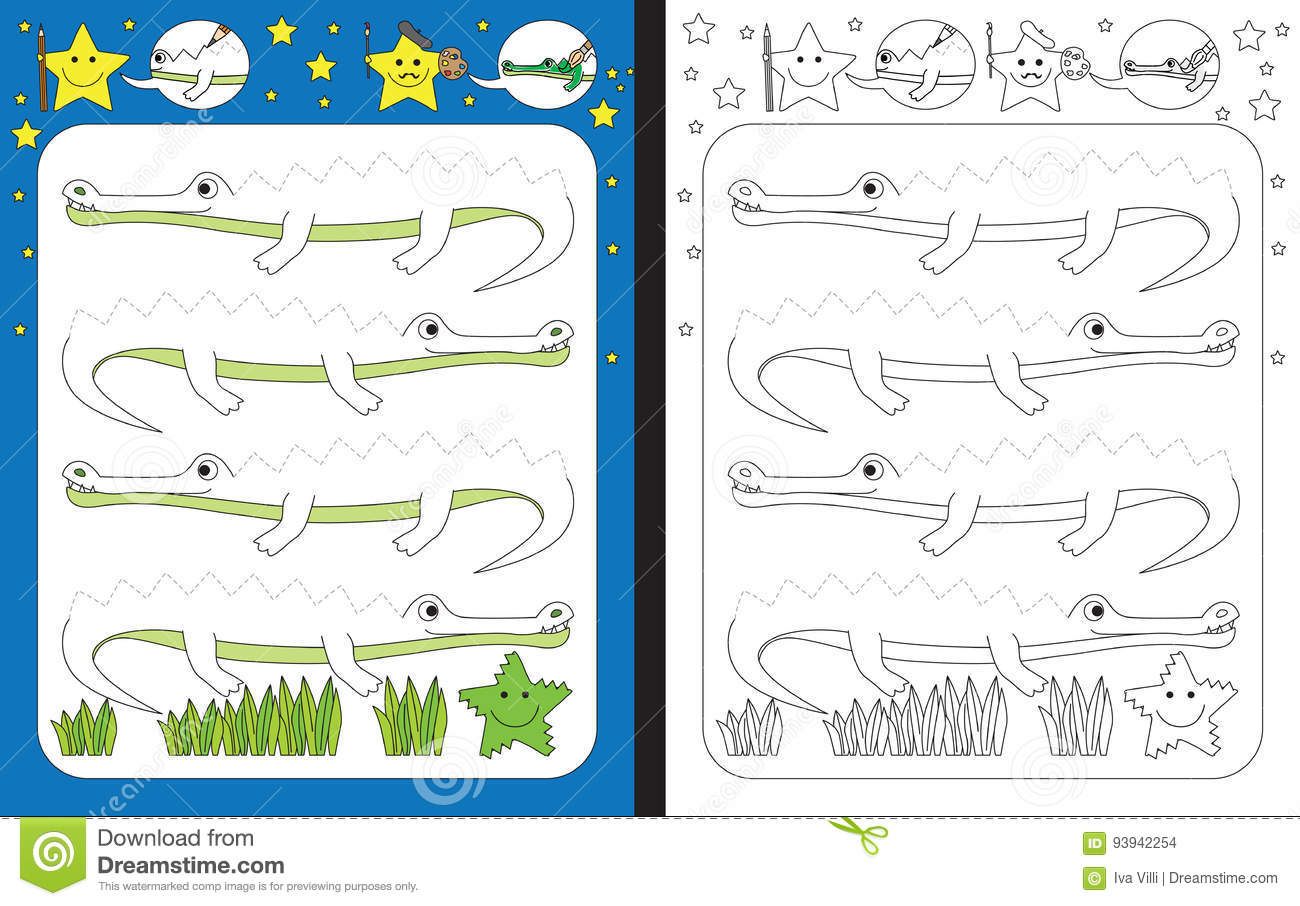 Preschool Worksheet Stock Vector Image Of Vector