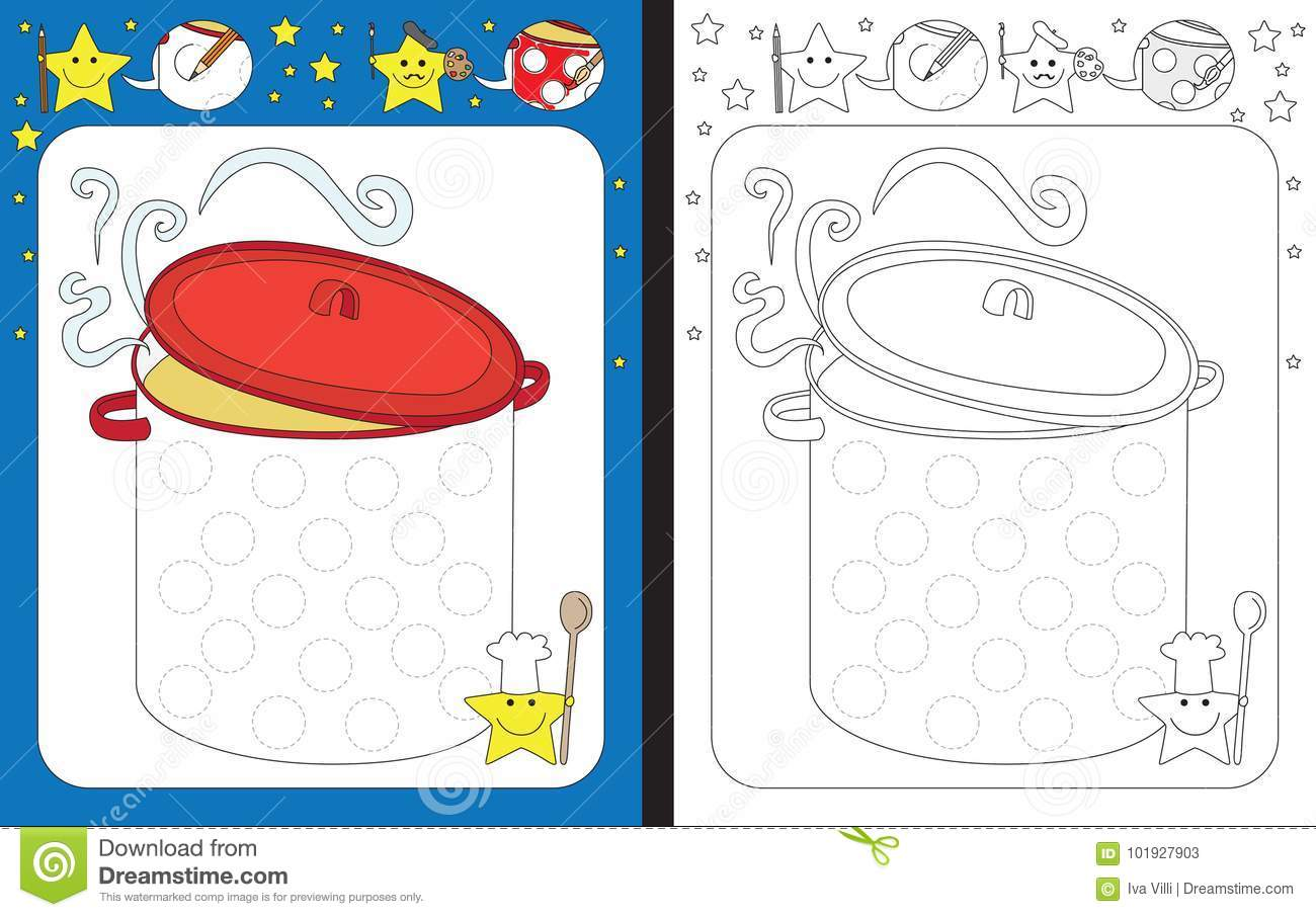 Preschool Worksheet Stock Vector Illustration Of Cooking
