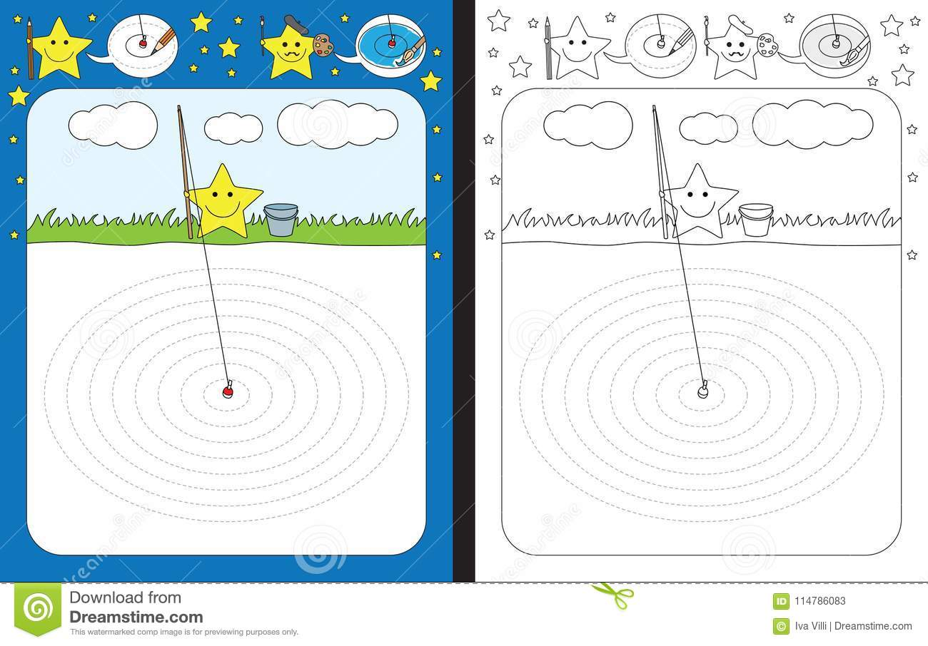 Preschool Worksheet Stock Vector Illustration Of Circle