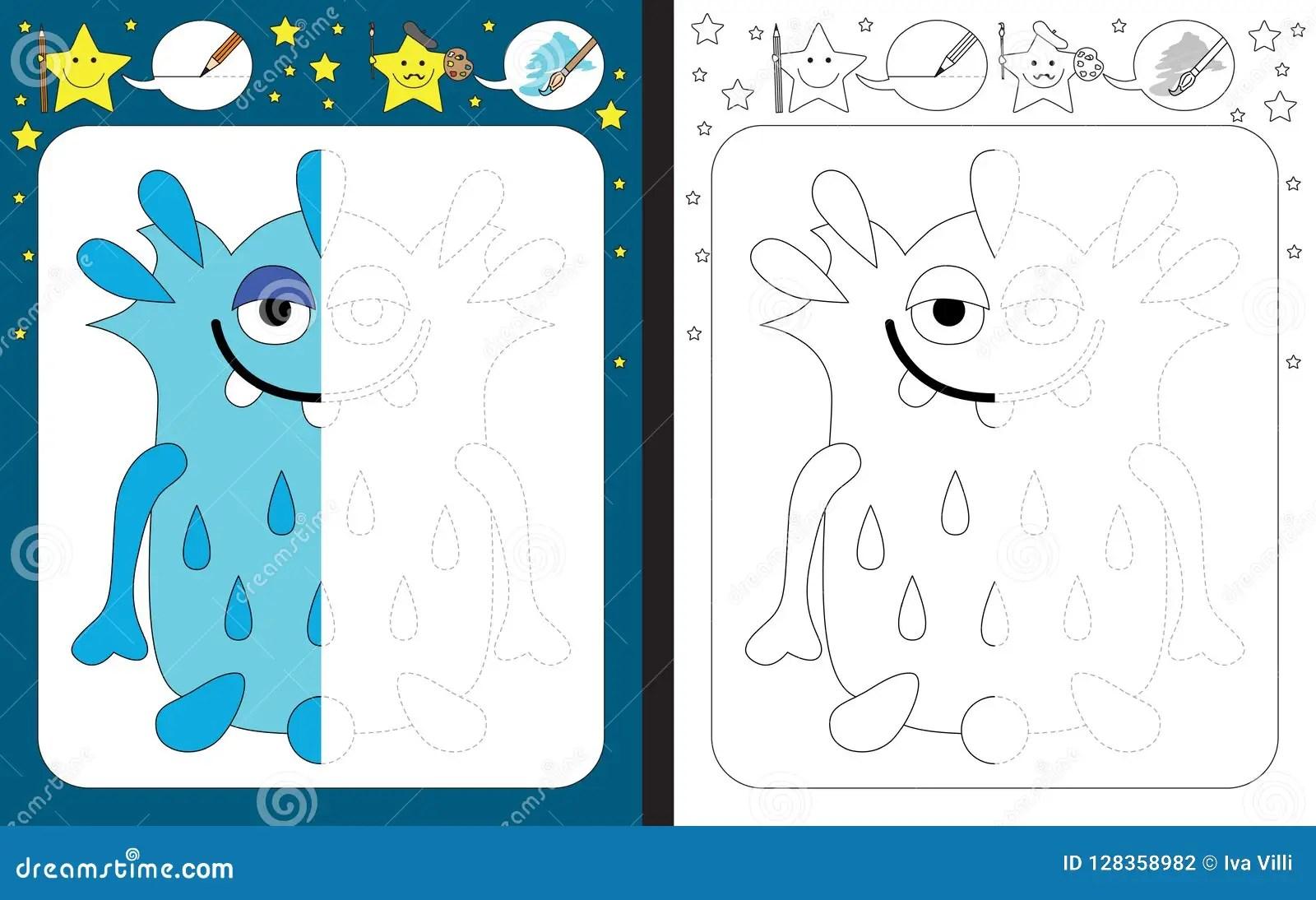 Preschool Worksheet Stock Vector Illustration Of Learning