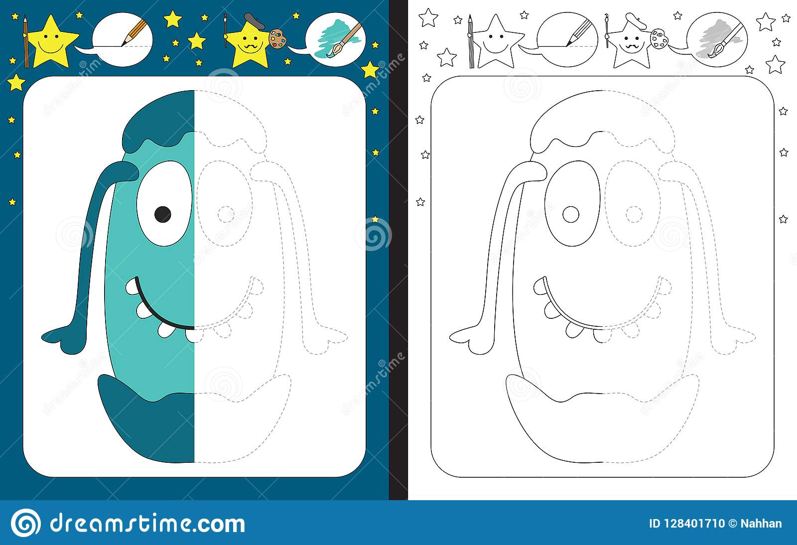 Preschool Worksheet Stock Vector Illustration Of Early