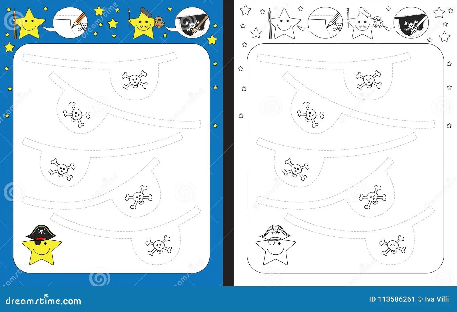 Preschool Worksheet Stock Vector Illustration Of Motor