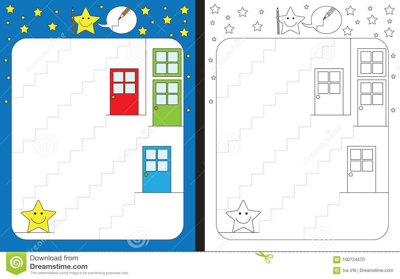 Preschool Worksheet Stock Vector Illustration Of Learning