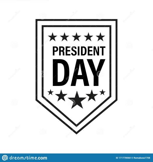 President Day Badge Vector Icon Isolated On White ...