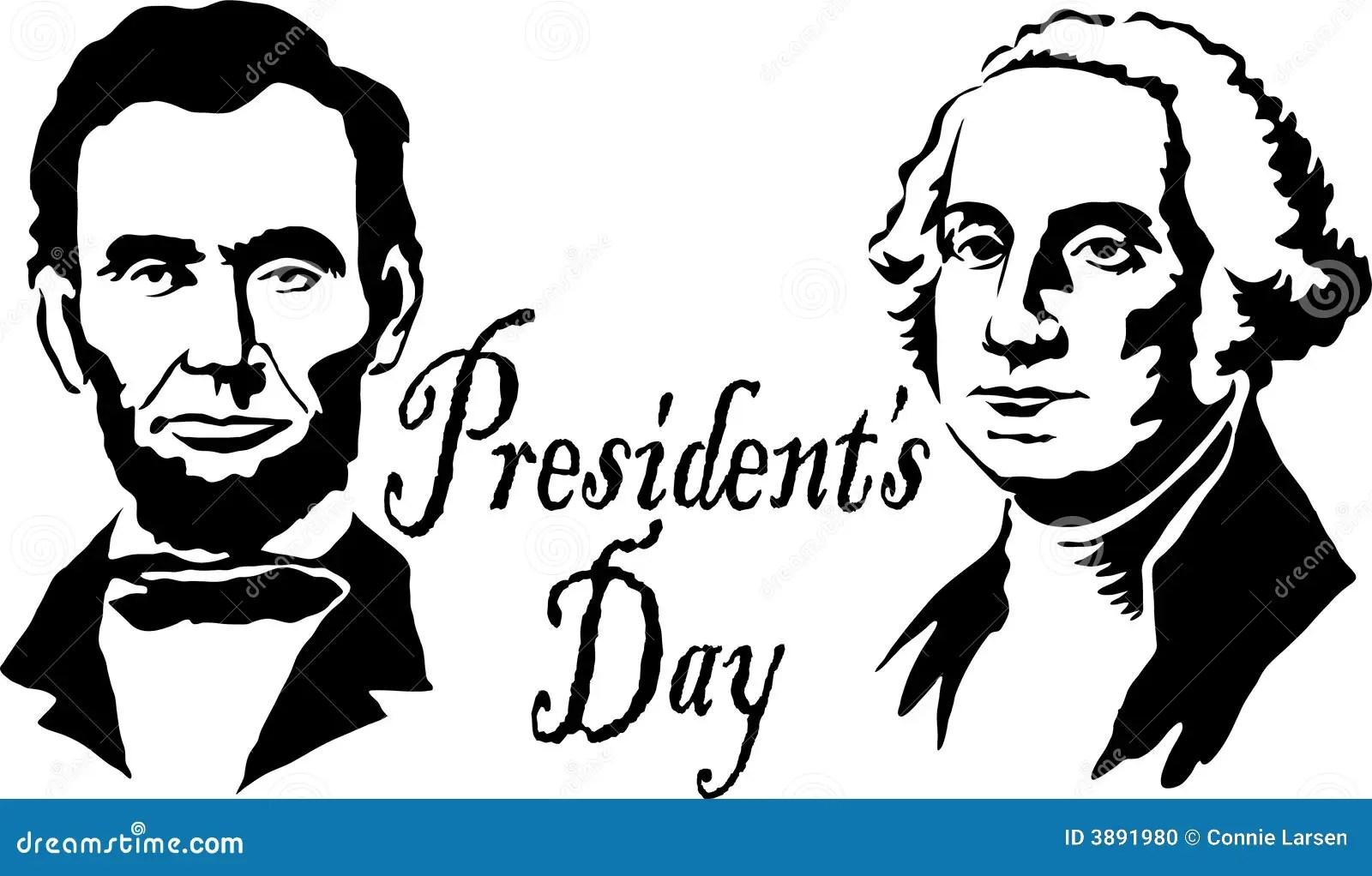 Presidents Washington Lincoln Editorial Image