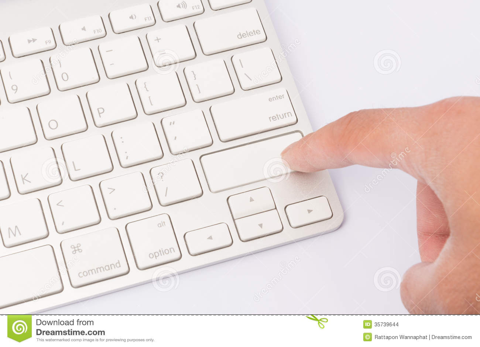 Press Keyboard Blank Finger Stock Images