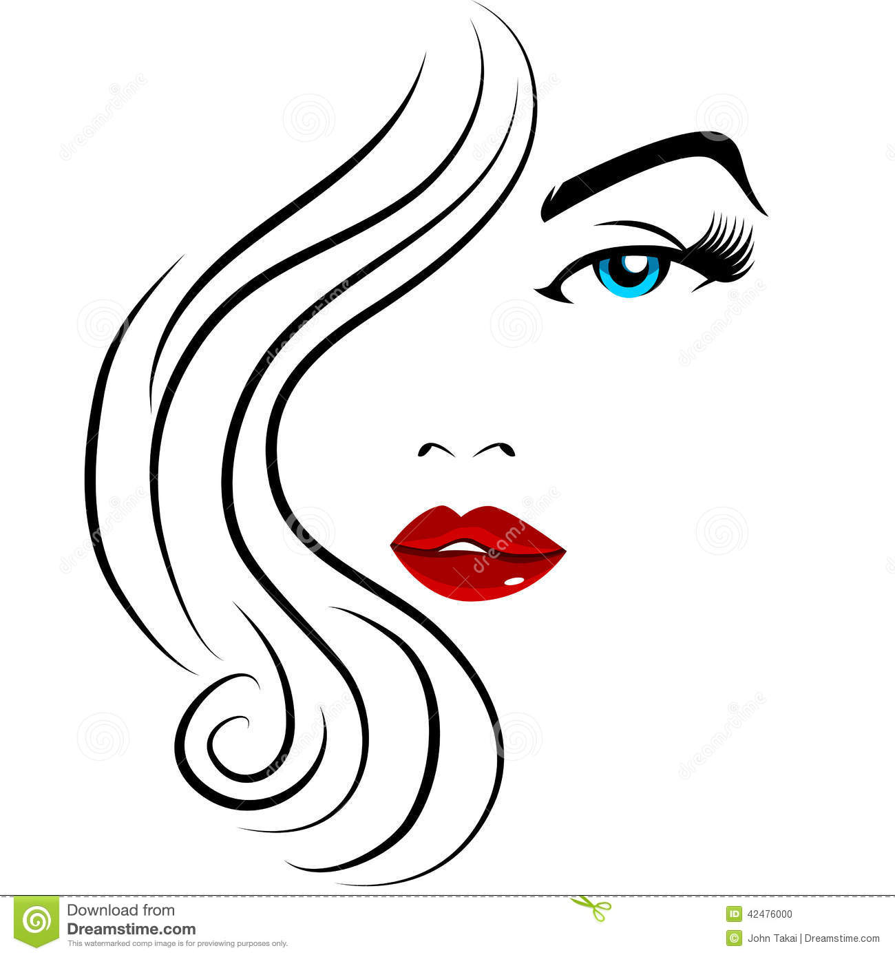 Pretty Face Girl Stock Vector