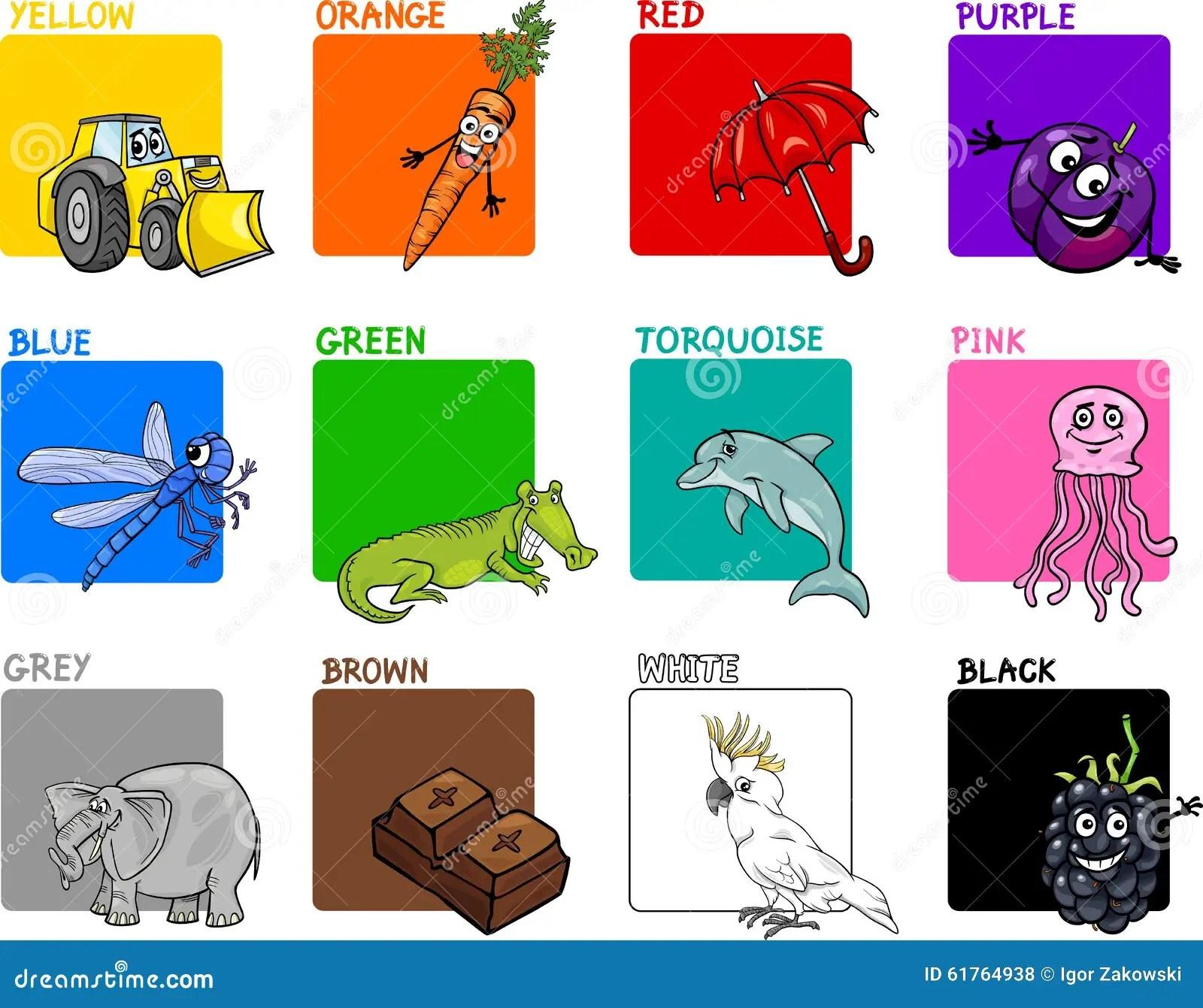 Primary Colors Cartoon Set Stock Vector