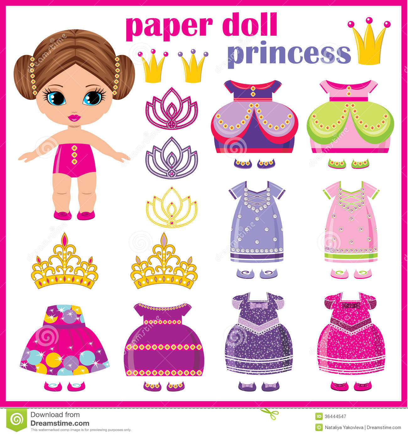Princesse De Papier De Poupee Illustration De Vecteur