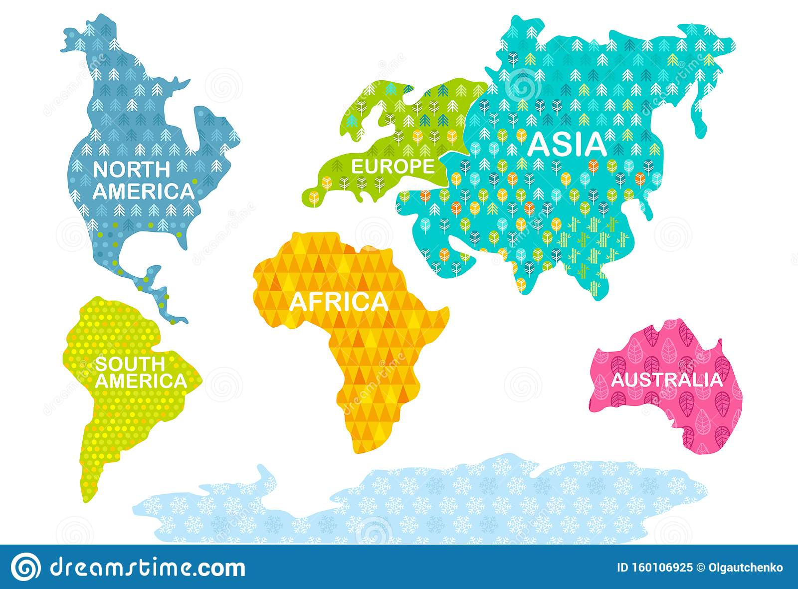 World Map Continents Stock Illustrations 15 390 World