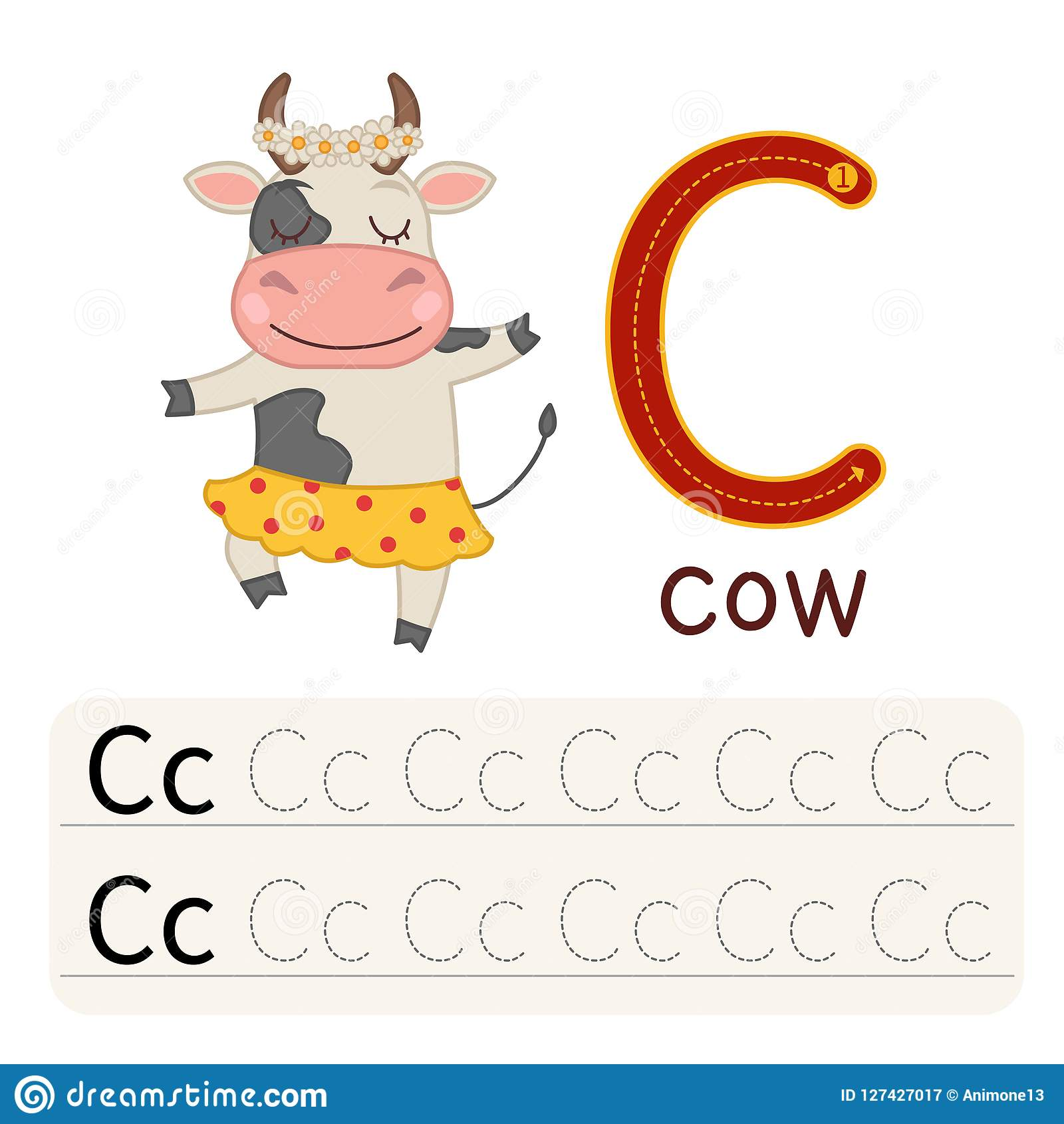 The Game Of The Dots Cow Stock Image