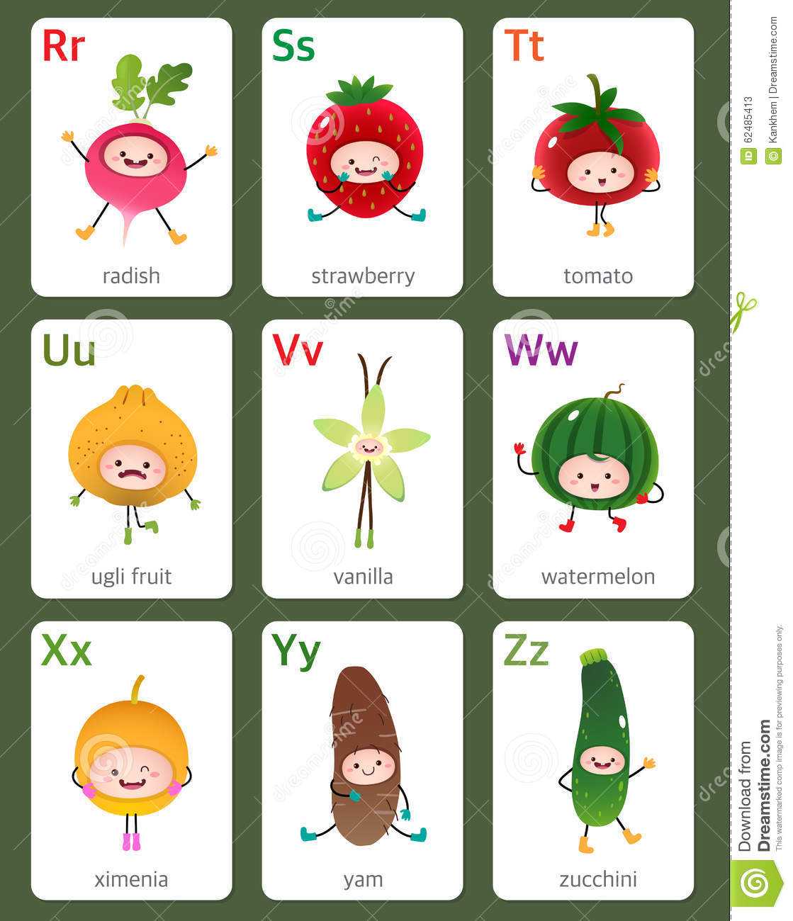Printable Flashcard English Alphabet From R To Z With