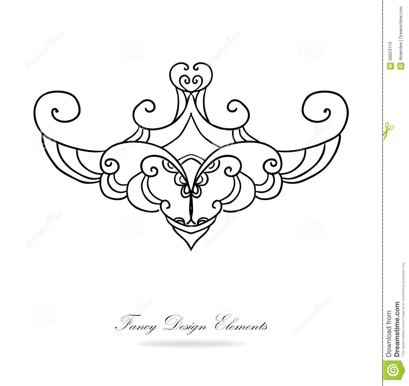 Fancy Lines 4 Vector Illustration