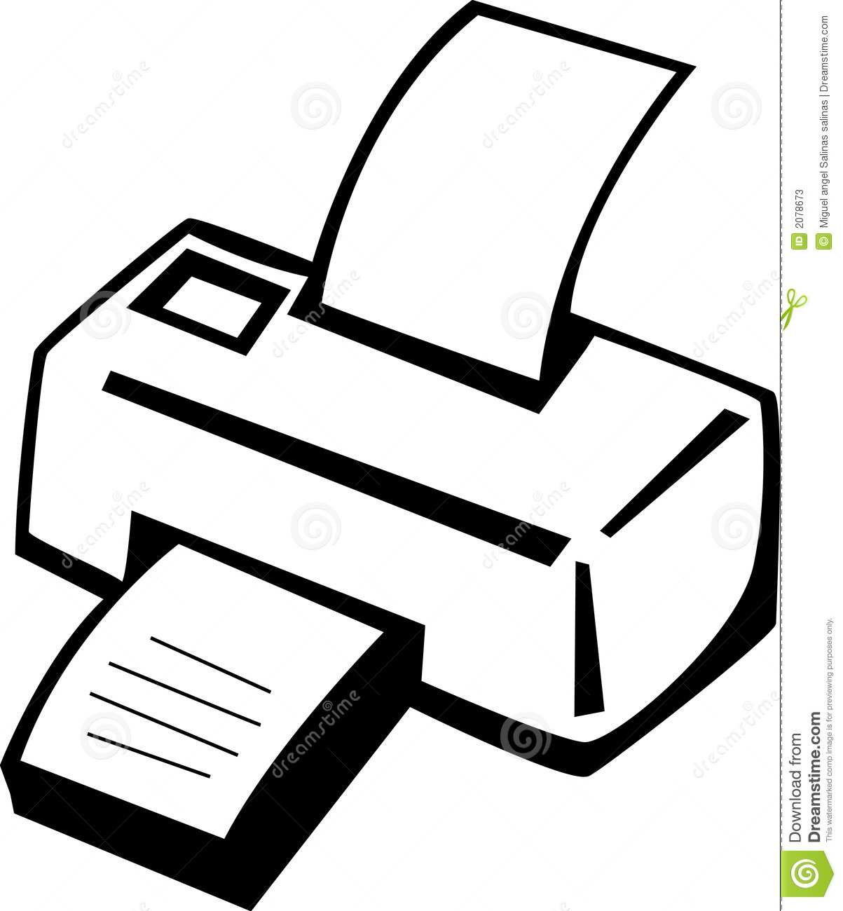 Printer Machine Vector Illustration Stock Photos