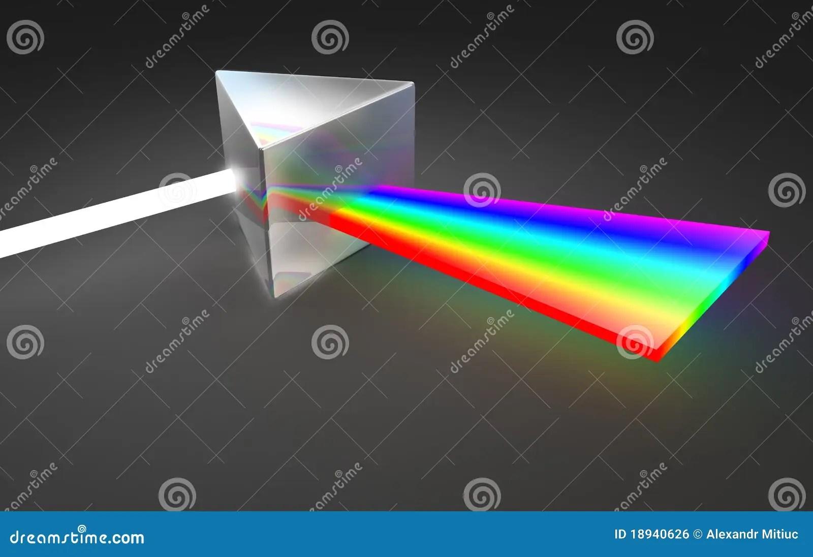 Prism Light Spectrum Dispersion Stock Illustration