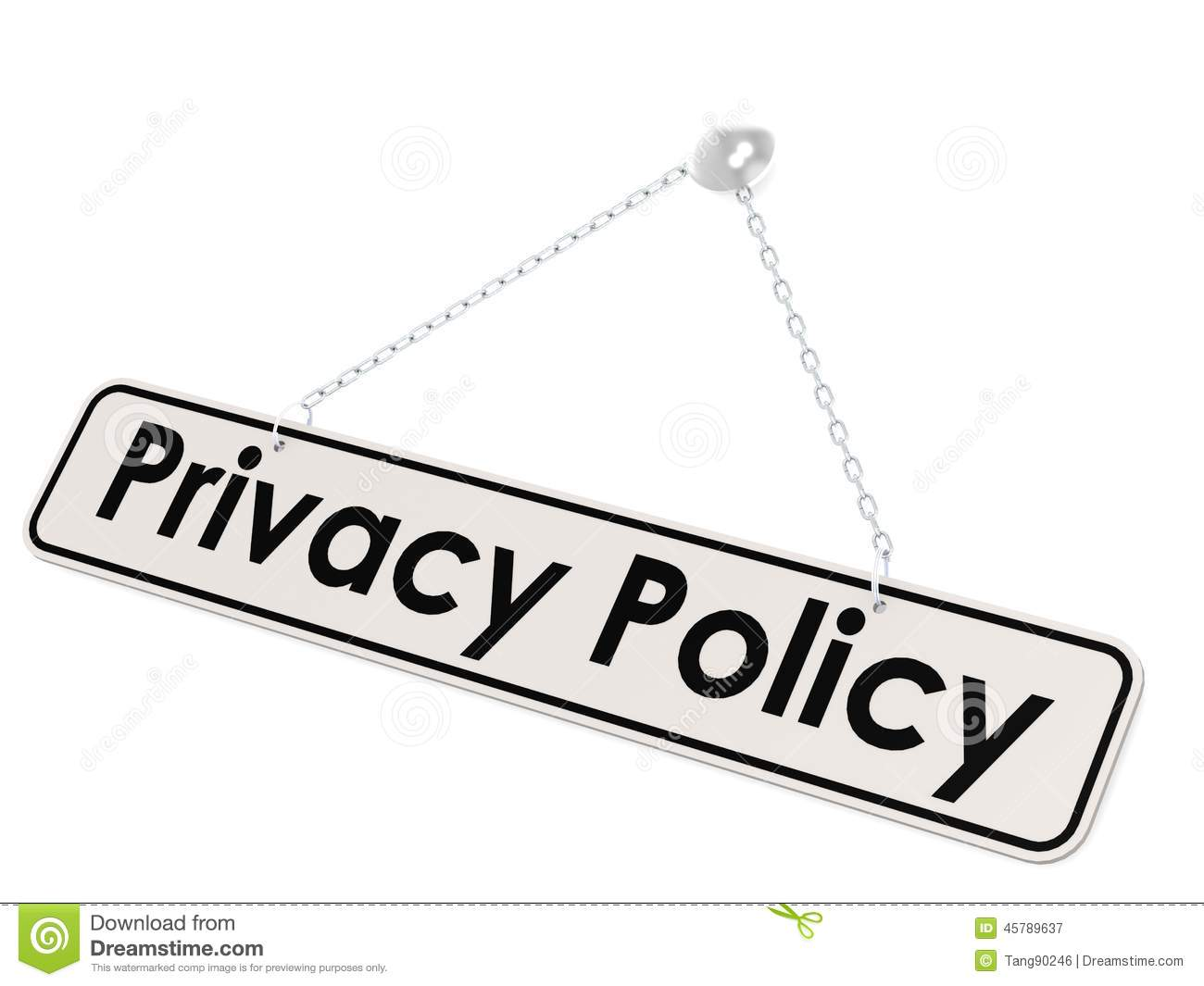 Privacy Policy Banner Stock Illustration